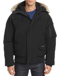 Canada Goose - Chilliwack Fur-trimmed Down Bomber Jacket - Lyst