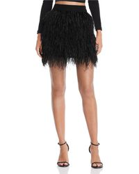 Aqua - Luxe Capsule Ostrich Feather Skirt - Lyst