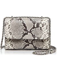 Tory Burch | Fleming Snakeskin Embossed Leather Small Convertible Shoulder Bag | Lyst