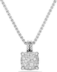 David Yurman - Châtelaine Pendant Necklace With Diamonds In Sterling Silver - Lyst