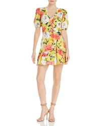 Parker - Minna Floral Print Mini Dress - Lyst