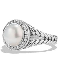 David Yurman - Albion Pearl Ring With Diamonds - Lyst