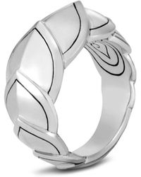 John Hardy - Sterling Silver Legends Naga Small Ring - Lyst