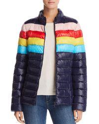 Aqua - Packable Rainbow-stripe Puffer Coat - Lyst
