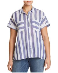 Lucky Brand - Tie-back Striped Shirt - Lyst
