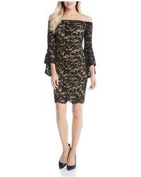 Karen Kane - Samantha Off-the-shoulder Bell Sleeve Lace Dress - Lyst