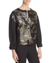 Donna Karan - New York Sequined Camo Jacket - Lyst