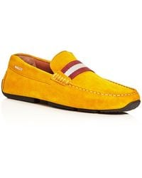 Bally - Men's Pearce Suede Drivers - Lyst