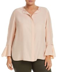 Lafayette 148 New York - Izzie Silk Bell-sleeve Blouse - Lyst