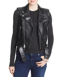 Theory Faux-leather Moto Vest