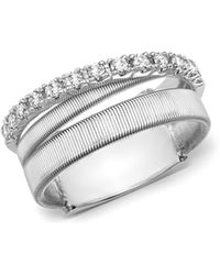 Marco Bicego | 18k White Gold Masai Triple Row Diamond Ring | Lyst