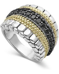 Lagos - Diamond Lux Black Diamond Band Ring - Lyst