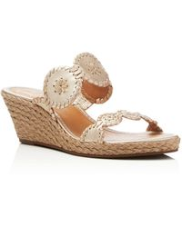 Jack Rogers - Shelby Espadrille Wedge Slide Sandals - Lyst