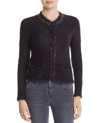 Donna Karan - New York Embellished Crop Cardigan - Lyst