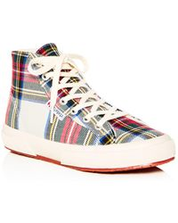 3d735150065 Lyst - Converse Conserve Chuck Taylor All Star Tartan High-Top ...