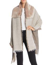 Gaynor - Salice Faux Fur Detail Wrap - Lyst