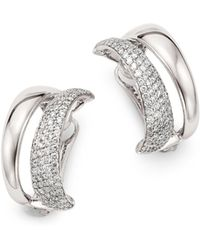 Roberto Coin - 18k White Gold Scalare Convertible Diamond Earrings - Lyst