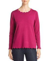 Avec - Scalloped Sweater - Lyst