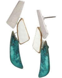 Robert Lee Morris - Linear Drop Earrings - Lyst