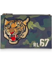 Polo Ralph Lauren - Tiger Camouflage Leather Pouch - Lyst