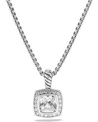 David Yurman | Petite Albion Pendant With White Topaz And Diamonds On Chain | Lyst
