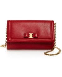 Ferragamo - Miss Vara Score Leather Mini Bag - Lyst
