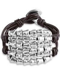 Uno De 50 - Tábano Beaded Leather Bracelet - Lyst