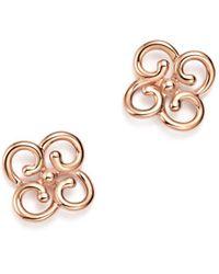 Bloomingdale's - 14k Rose Gold Twist Clover Earrings - Lyst