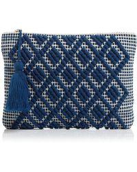 Echo - Diamond Motif Clutch - Lyst