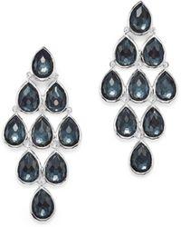 Ippolita - Sterling Silver Rock Candy® Teardrop Cascade Earrings In Clear Quartz And Hematite - Lyst