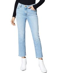 Sanctuary - Modern Straight Ankle Jeans In Light Blue - Lyst