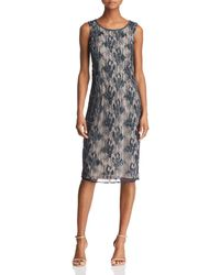 Adrianna Papell - Beaded Lace Dress - Lyst