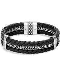 John Hardy - Jhardy Leather Braided Bracelet - Lyst