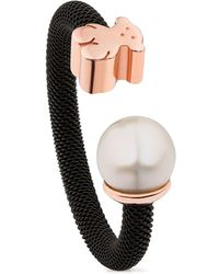 Tous | Cultured Freshwater Pearl & Bear Open Ring | Lyst