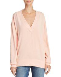 Rag & Bone - V-neck Sweatshirt - Lyst