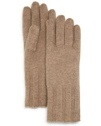 C By Bloomingdale's - Ribbed Cashmere Gloves - Lyst