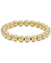 Aqua - Beaded Stretch Bracelet In 18k Gold-plated Sterling Silver Or Sterling Silver - Lyst