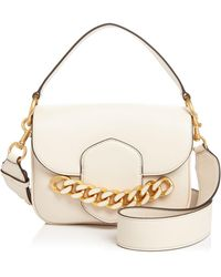 Tory Burch - Jessie Chain-embellished Leather Satchel - Lyst