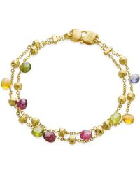 """Marco Bicego - """"paradise Collection"""" Two Strand Gold Bracelet - Lyst"""