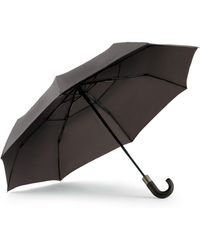 Shedrain - Windpro® Vented Auto Open/auto Close Compact Umbrella With Curved Wood Handle - Lyst