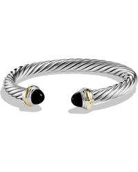 David Yurman - Cable Classics Bracelet With Black Onyx And Gold - Lyst