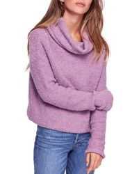 Free People - Stormy Cowl-neck Sweater - Lyst
