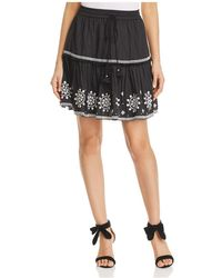 Kate Spade - Embroidered Mini Skirt - Lyst