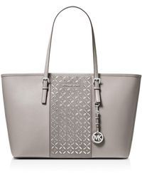 MICHAEL Michael Kors - Voyager Large Hotfix Leather Tote - Lyst