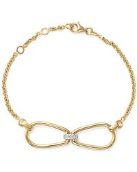 Roberto Coin - 18k Yellow Gold Classic Parisienne Diamond Bracelet - Lyst
