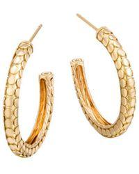 John Hardy - 18k Yellow Gold Dot Small Hoop Earrings - Lyst