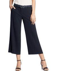 Basler - Belted Wide-leg Cropped Pants - Lyst