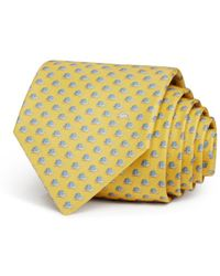 Ferragamo - Tortoise Silk Classic Tie - Lyst