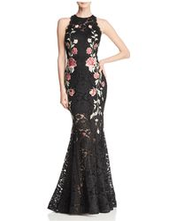 Betsy & Adam - Embroidered Lace Gown - Lyst