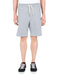 The Kooples - Tricolor Stripe Fleece Shorts - Lyst